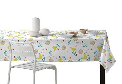 Martina Home Gallinas Mantel Resinado, Diseño Moderno, Tela, Amarillo, 140 x 180 cm