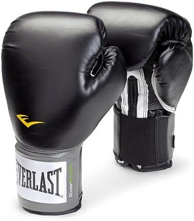 Everlast Pro Style Guantes de entrenamiento (negro, 12 oz.)
