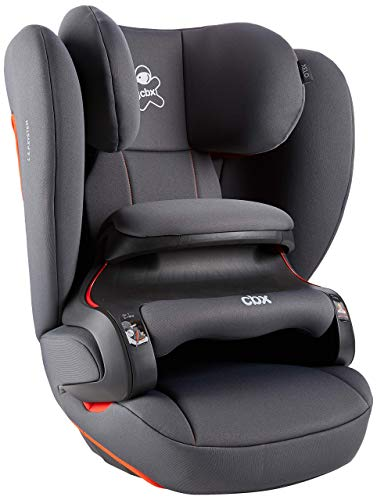 cbx Kinder-Autositz Xelo, Gruppe 1/2/3 (9-36 kg), Ab ca. 9 Monate bis ca. 12 Jahre, Mit Latch connect, Orangy Grey