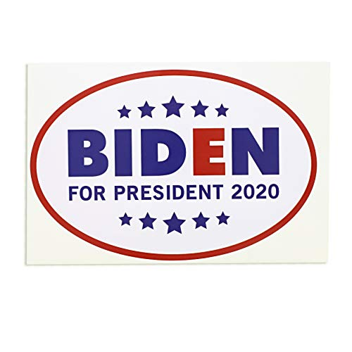 Juvale Biden for President 2020 Bumper Sticker (12 Pack), 6 x 4 Inches