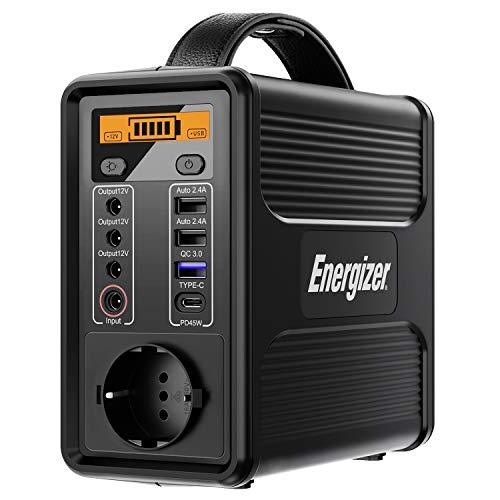 Energizer Tragbarer Power Station, 160Wh / 50000mAh 230V Akku Generator mit PD 45W USB-C-Schnellladung QC 3.0, Sichere LiFePO4-Batterie für Camping Emergency Outdoor