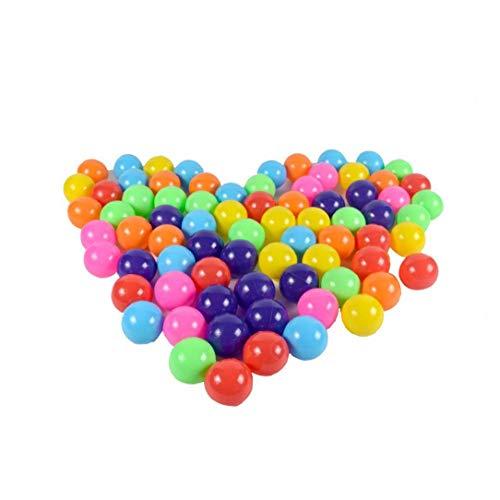 NorCWulT Océano Colorido de la Bola de la función Multi de Bola de plástico para niños con Juego de Pelota del niño Swim Pit Juguete portátil bebé Bola de Olas para la Cubierta Exterior 5.5cm 100pcs