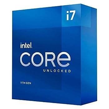Intel Core i7-11700 Desktop Processor 8 Cores up to 4.9 GHz LGA1200  Intel 500 Series & Select 400 Series Chipset  65W