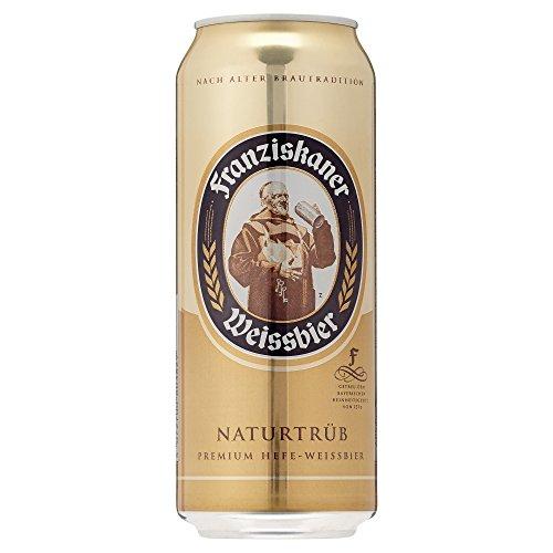 24 Dosen Franziskaner Hefe Weißbier naturtrüb a 0,5L Liter Bier inc. 6.00€ EINWEG Pfand