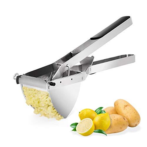 Nurch Kartoffelpresse kartoffelquetsche Rostfreier Edelstahl Baby Essen Obst und Gemüse kartoffelstampfer für cremige Flauschige Kartoffelpüree, Spülmaschinengeeignet