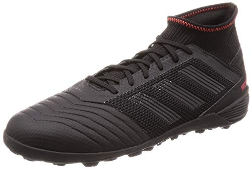 adidas Herren Predator 19.3 TF Fußballschuhe, Schwarz (Core Black/Active Red) , 48 2/3 EU