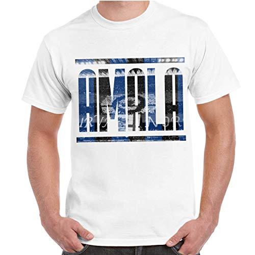 CHEMAGLIETTE! T-Shirt Divertente Uomo Maglietta Maniche Corte con Stampa Tifosi Interisti Amala, Colore: Bianco, Taglia: L