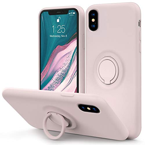 MOCCA for iPhone Xs Max Silicone Case with Kickstand | Anti-Scratch | Soft Microfiber Lining Full-Body Shockproof Protective Case for iPhone Xs Max -WineRed