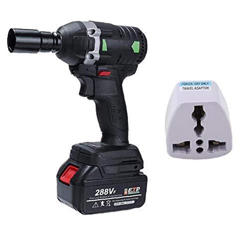 DierCosy Herramientas eléctrica Llave de Impacto sin Cable Llave de trinquete Eléctrica...