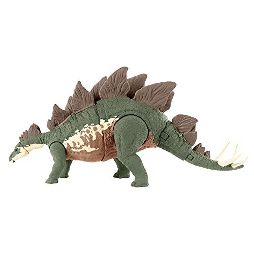 Jurassic World GWD62 - Mega-Zerstörer Stegosaurus Camp Cretaceous Dinosaurierfigur mit beweglichen Gelenken, ab 4 Jahren