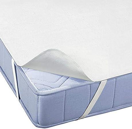Beautissu Protector de colchón Impermeable BEAUTECT MA Molton Cubre Colchón Transpirable, hipoalergénico, Anti Àcaros y Antibacteriano 160x200 cm