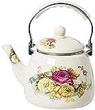 Hervidor de agua de 3,3 L de esmalte grueso olla tetera tetera café olla inducción tetera té té taza