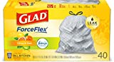 Glad ForceFlex Tall Kitchen Drawstring Trash Bags, Citrus & Zest, 13 Gal, 40 Ct (Package May vary)