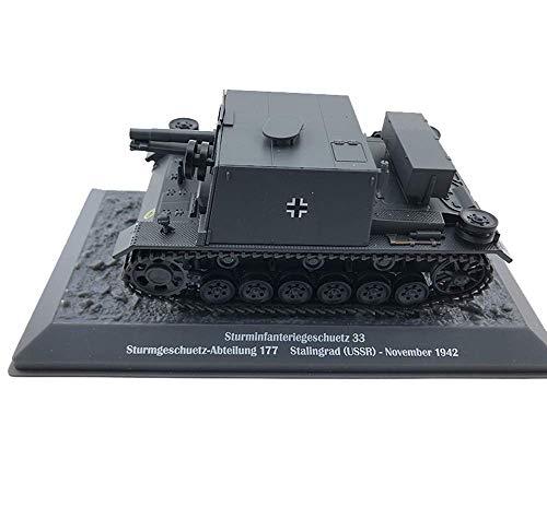 JIALI 1/43 Scale Diecast Tank Metal Modelo, sturminfanteriegeschuetz 33 Infantería de Asalto Arma Alemana, Juguetes Militares y Regalos, 5.3 Pulgadas x 2.2 Pulgadas