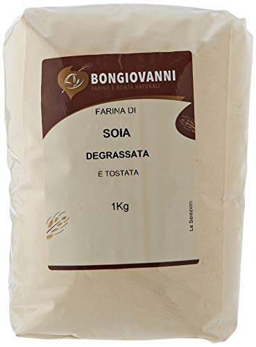 BONGIOVANNI FARINE e BONTA' NATURALI Farina di Soia Tostata Degrassata, Macinazione da Soia Tostata - Formato da 1kg
