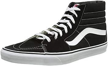 Vans Unisex Sk8-Hi Black/Black/White Skate Shoe 9.5 Men US / 11 Women US