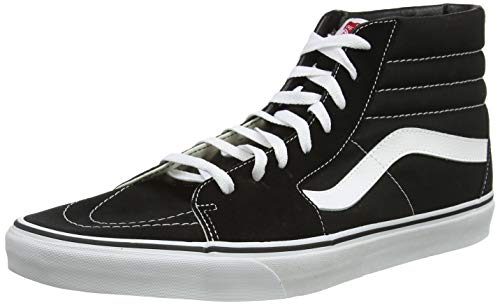 Mens Vans SK8 High Skate Shoes in Black.
