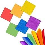 Whaline - Tovaglioli di carta per cocktail party, motivo arcobaleno, colori vivaci, a 2 strati, decorazione per gay pride, casa, cucina e feste, 120 pezzi