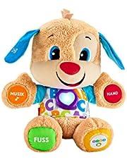 Fisher-Price FPM50 - leerplezier hondjes babyspeelgoed en knuffeldieren, educatief speelgoed met liedjes en sets, meegroeiende speelniveaus, speelgoed vanaf 6 maanden, Duitstalig