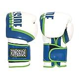 Ringside Bullet Sparring Gloves White/Blue, 16 oz