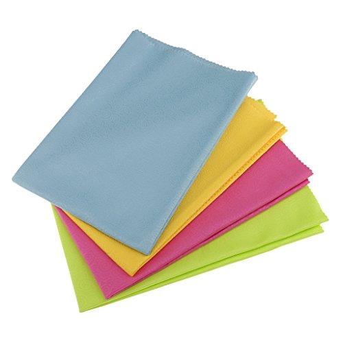 harayaa Paño de Limpieza de Microfibra Grande de 4 Paquetes para Pantalla de Lentes de Cámara