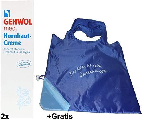 Preisvergleich Produktbild 2x 125ml Gehwol Hornhaut Creme +Gratis Einkaufstasche. Entfernt Hornhaut