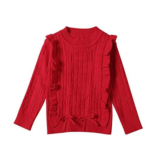 K-Youth Ropa de Punto Niña Casual Caliente Camiseta Manga Larga Niños Suéter Niña Jersey para Niñas Blusa de Punto Niño Invierno Ropa Bebe Niña Recien Nacido Otoño Abrigo Bebe Niña
