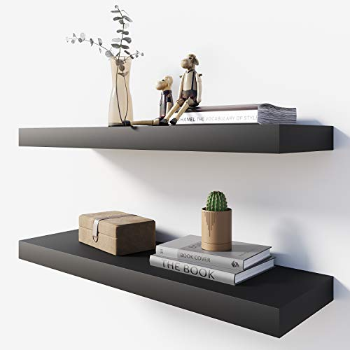 Black Wall Mounted Shelves