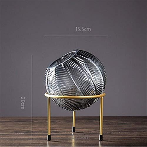 Bloem van het glas Vazen Cerative Glasvaas Decoration Spherical Glasvaas Living Room Decoration voor Verjaardag Wedding (Color : GR 20cm)