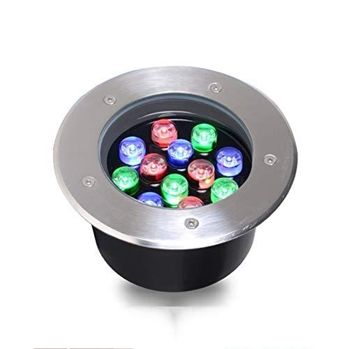 AMDHZ LED Foco Empotrable A Prueba De Polvo Impermeable IP68 AC85-265V / DC12-24V Incrustado Luces Decorativas Jardín Patio, 1W3W6W9W (Color : H, Size : 1W DC12-24V)