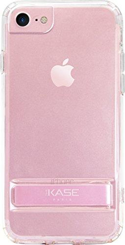 Osynlig silikonskal med stativ för Apple iPhone 6/6s/7/8, rosa guld