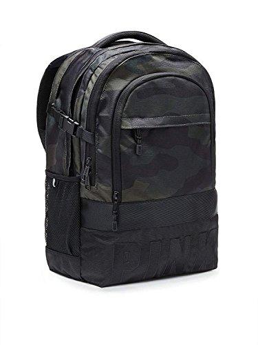 Victoria 's Secret PINK Collegiate Backpack Bling Bag Camo Green black Straps