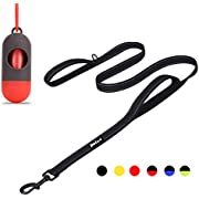 Bolux 5ft Dog Leash, Heavy Duty Rope Leash with 2 Padded Handle – Pet Training Lead with 3M Reflective Double Handle for Traffic Control Safety, Perfect for Large Medium or Small Dog
