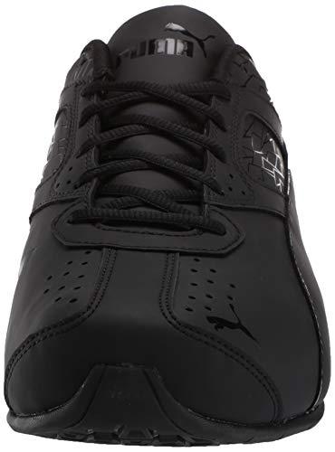 PUMA Men's Tazon 6 Fracture FM Sneaker Black, 8 M US
