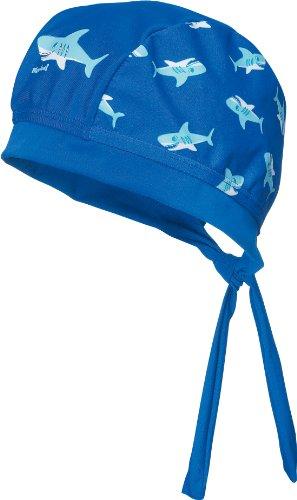 Playshoes UV-Schutz Kopftuch Hai Turbante, Blu (Blau (Original), 53 Bambino