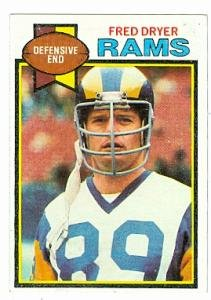 Fred Dryer football card (Los Angeles Rams) 1979 Topps #453
