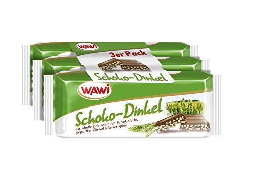 WAWI Schoko Dinkel 3er Pack, 135 g