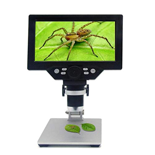 G1200 Electronic Digital Microscope 12MP 7 Inch Large LCD Display Soldering Continuous Amplification Magnifier Tool Mobile Phone Repair
