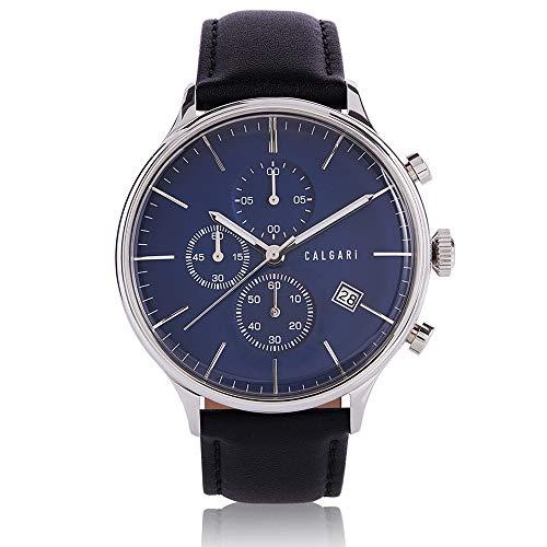 Calgari Conscio - Reloj de pulsera para hombre con cronógrafo y mecanismo de cuarzo