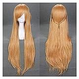 Anime Sword Art Online Yuuki Asuna Cosplay Wig Yuki Asuna Women Long Orange Synthetic Hair Halloween Party Role Play Wigs Seupeak