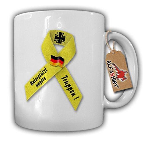 Gelbe Schleife Bundeswehr Solidarität Unterstützt unsere Truppen -Tasse #8071
