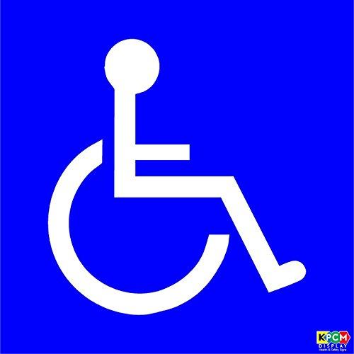 Pegatina para coche, logotipo de discapacitados, 110 x 110mm, color azul, externo