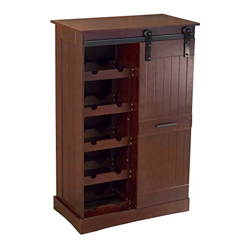 northbeam WNR0051710800 Oxford Bar Wine Cabinet, Espresso