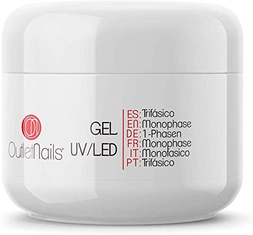 Gel UV 3 en 1 UV/Led Monophase 50ml / 3en1 gel ongles = Base + Construction + Finition/monophasés Mono Phase/Gel Monophase (3 en 1)