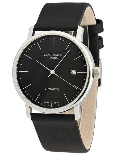Zeno Watch Basel 3644-i1 - Reloj analógico automático para Hombre con Correa de Piel, Color Negro