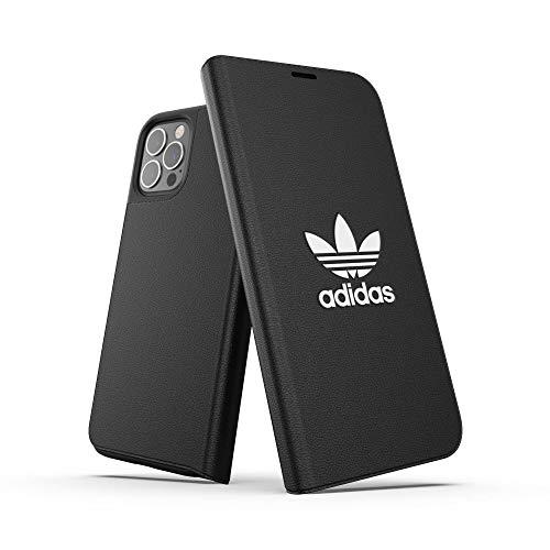 adidas Funda diseñada para iPhone 12 / iPhone 12 Pro 6.1, Funda con Tapa antigolpes, Bordes elevados, Color Negro