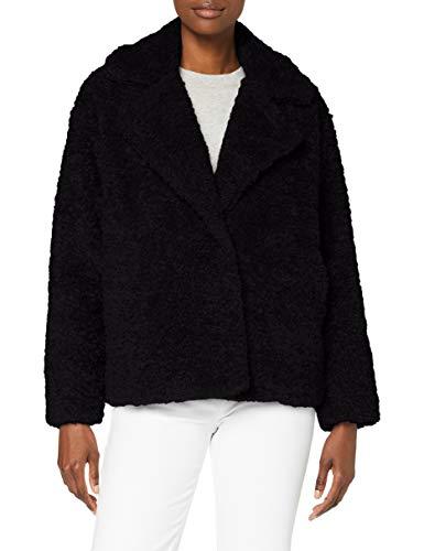 Herrlicher Damen Tanny Fake Fur Jacke, Black 11, XS
