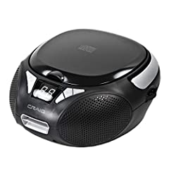 BRING YOUR MUSIC ANYWHERE: The compact size and lightweight build of our portable CD player and radio allow you to play and listen to your favorite tracks even when you're in the outdoors. TUNE IN TO YOUR FAVORITE STATION: This player is equipped wit...