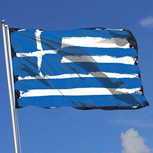 ShiHaiYunBai Decorazioni per Il Giardino Bandiere/Bandiera, Outdoor/Indoor Garden Flag Flag of Greece 100% Polyester Single Layer Translucent Flags (3 X 5 Foot)