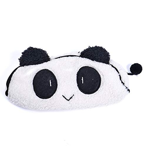 RAYNAG Fuzzy Panda Pencil Case Pouch Cute Little Cosmetics Make up Bag, Plush Pen Bag, Birthday Gifts Party Goodie Bag